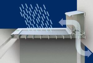 Regensichere Lichtaschachtabdeckung RESI
